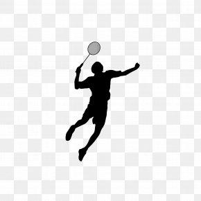 Badminton Silhouette Figures - Badminton Shuttlecock Sport PNG