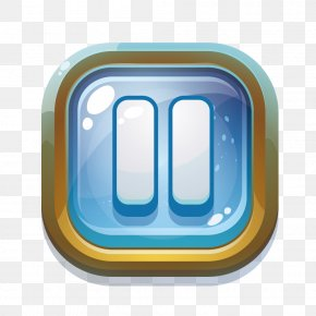 Blisters Texture Metal Edge Game Pause Button - Button Game Download Icon PNG