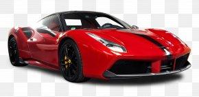 Red Ferrari 488 GTB Car - Ferrari 488 Sports Car Ferrari 458 Spider PNG