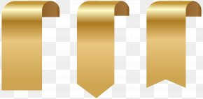 Banner Gold - Banner Paper Clip Art PNG