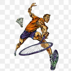 Badminton Players - Sport Badminton Raqobat Athlete Painting PNG