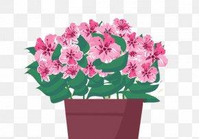 Purple Pink Flower - Flowerpot Euclidean Vector Illustration PNG