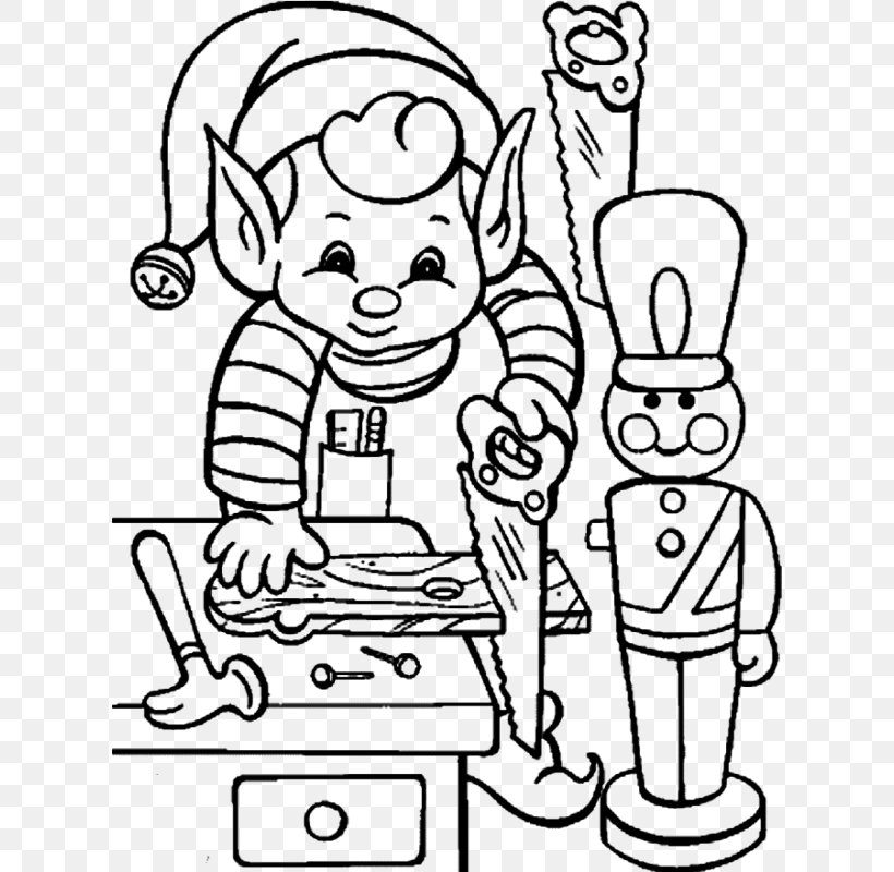 Elf On The Shelf Coloring Book