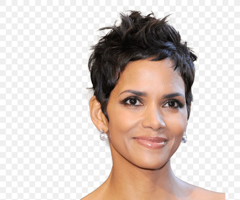 Halle Berry Pixie Cut Hairstyle Female Png 720x684px Halle Berry Bangs Black Hair Brown Hair Celebrity