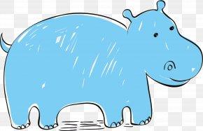 Hippo Vector Elements - Hippopotamus Euclidean Vector Clip Art PNG