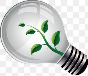 Environmental Protection Decoration Design Vector - Lamp Green PNG