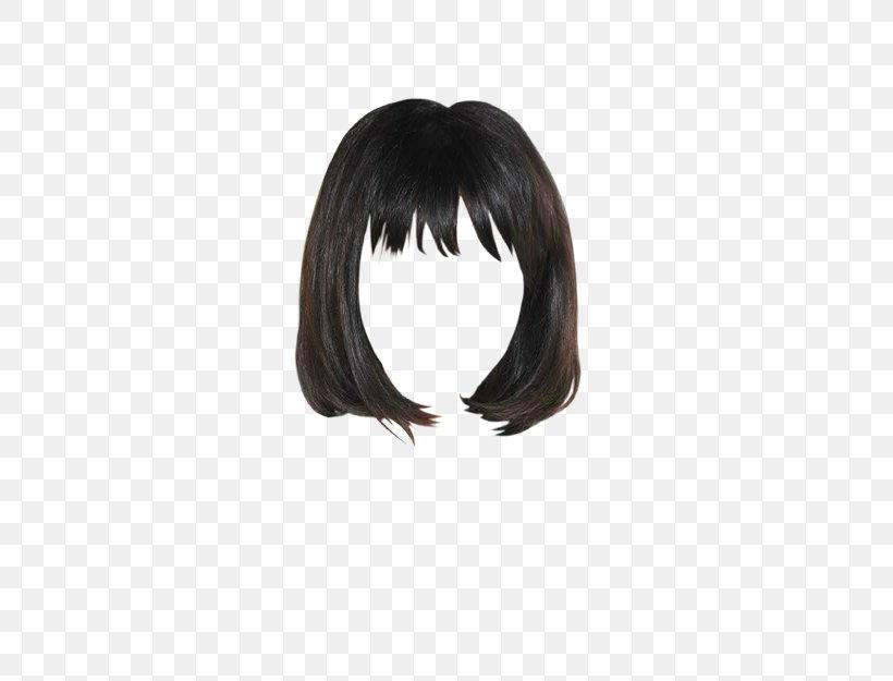 Black Hair Bangs Lace Wig Png 521x625px Black Hair