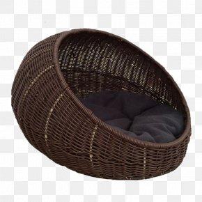 Brown Rattan Cat Nest - Havana Brown Wicker Pet Rattan Couch PNG