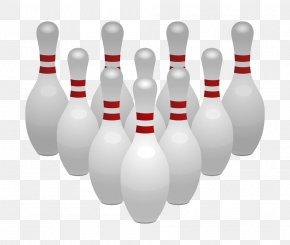 Leisure Bowling - Bowling Pin Bowling Ball Clip Art PNG