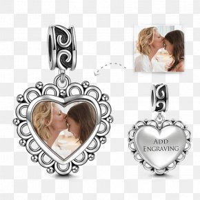 Heart Monogram - Earring Charm Bracelet Sterling Silver Pandora PNG