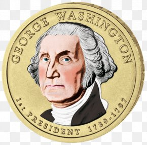 United States - George Washington United States Dollar Dollar Coin Presidential $1 Coin Program PNG