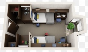 Apartment - Apartment 3D Floor Plan House Plan PNG