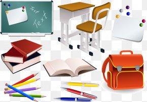 Students School Supplies Vector Material, Eps Format - School Supplies Clip Art PNG