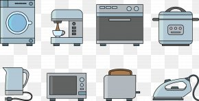 Vector Washing Machine - Home Appliance Microwave Oven Icon PNG