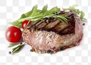 Grilled Beef Steak - Beefsteak Barbecue Garlic Bread Restaurant PNG