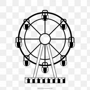 Roda GIGANTE - Ferris Wheel Coloring Book Drawing London Eye PNG