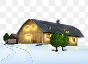 Norway Winter Cabin - Desktop Wallpaper Christmas Day Santa Claus Animation Image PNG