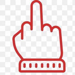 Middle Finger - Middle Finger The Finger Symbol PNG
