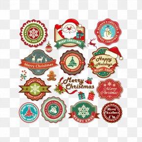 Christmas Tag Download - Santa Claus Christmas Label Illustration PNG