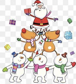 Santa Claus's Reindeer - Rudolph Santa Claus's Reindeer Santa Claus's Reindeer Illustration PNG