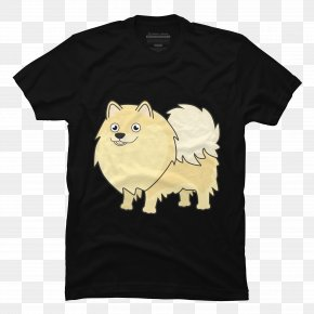 T-shirt - T-shirt Hoodie Pomeranian Scoop Neck PNG
