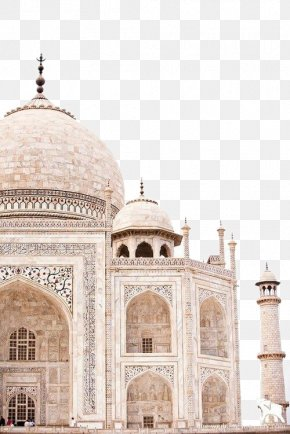 A View Of The Taj Mahal - Taj Mahal Jaipur Golden Triangle New7Wonders Of The World Travel PNG
