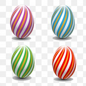 Striped Easter Egg Pictures - Easter Bunny Easter Egg PNG