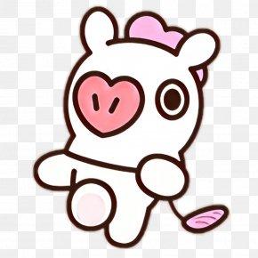 Love Sticker - Pink Heart Cartoon Clip Art Line Art PNG