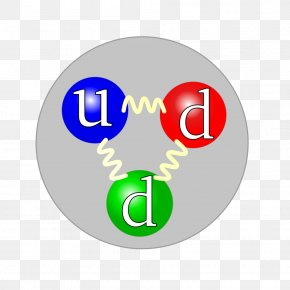 Physics - Up Quark Proton Strong Interaction Gluon PNG