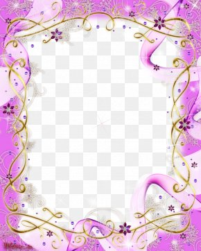 Purple Frame - Picture Frame PNG