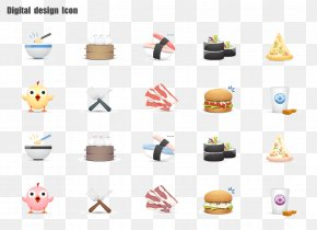 Bowl Chicken Burger Button - Sushi Japanese Cuisine Food Icon PNG