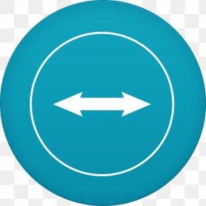 Teamviewer - Symbol Aqua Circle Line Font PNG