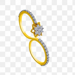 Gold Ring 14 - Wedding Ring Jewellery Colored Gold Tanishq PNG
