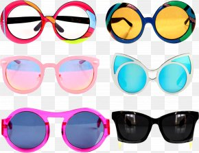 Creative Collage Sunglasses - Goggles Sunglasses Designer PNG