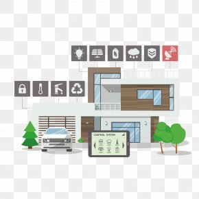 Vector Office Building - Home Automation Internet Of Things Illustration PNG