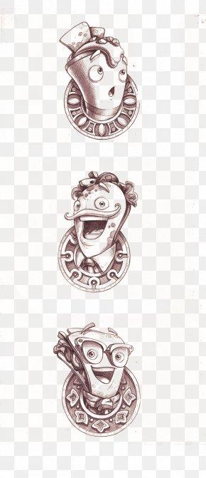 Q Version Of Avatar - Drawing Line Art Illustration PNG