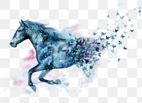 Horse - Horse Watercolor Painting Drawing Tattoo PNG
