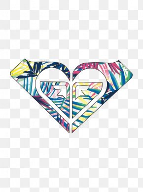 Creative Heart Graffiti - Bumper Sticker Decal Roxy Logo PNG