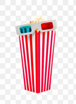 Popcorn And 3D Glasses - Popcorn Cinema 3D Film PNG