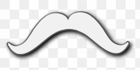Mustache Images Free - White Black Font PNG