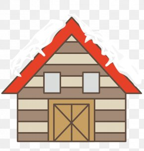 Vector Red Wooden House Roof Snow - Roof Snow House Euclidean Vector PNG