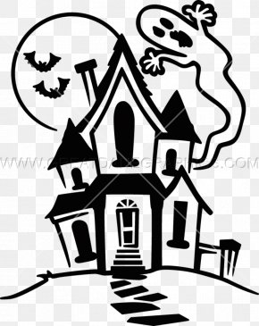 House - Drawing Haunted House Line Art Clip Art PNG