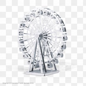 Paper Flyer - Ferris Wheel Metal Laser Cutting Ford Model T PNG
