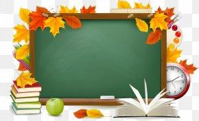 Back To School - School Supplies Clip Art PNG