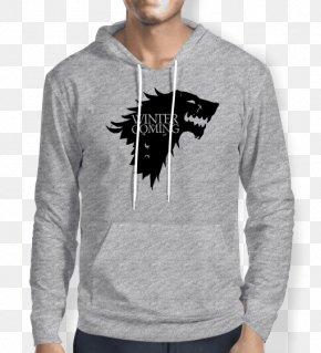 T-shirt - Hoodie Arya Stark House Stark Winter Is Coming Jon Snow PNG