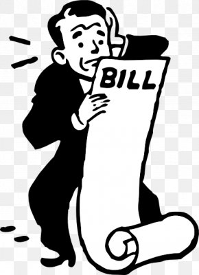 Worried Cliparts - Invoice Electric Bill Free Content Clip Art PNG