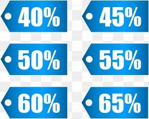 Blue Discount Tags Set Part 2 Transparent Image - Coupon Run2Paradise PNG