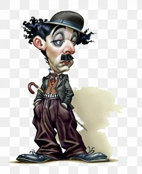 Hand Painted Chaplin - Mary Darly The Tramp Caricature Film PNG