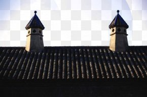 Chimney On The Roof - Roof Tiles Architecture Building PNG