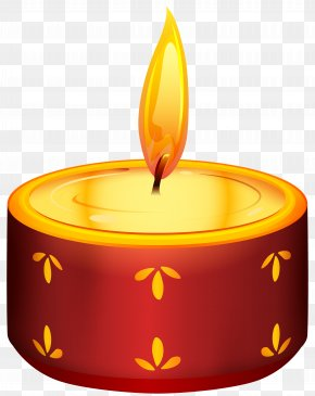 Diwali Red Candle Transparent Clip Art - Diwali Candle Birthday Cake Clip Art PNG
